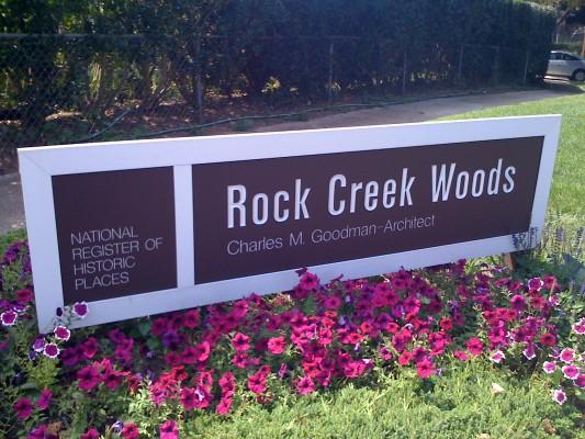 Rock Creek Woods Sign