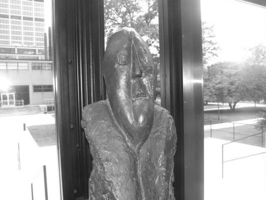 Mies sculpture in Crown Hall