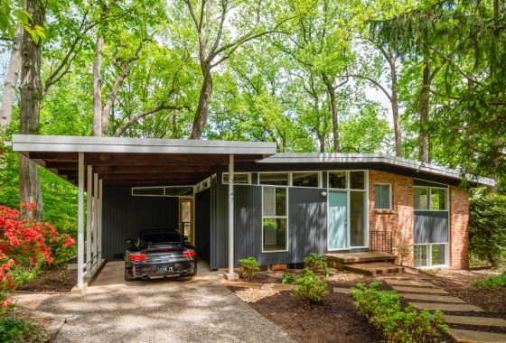 Renovated mid-century modern home in Falls Church.
