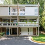Renovated Charles Goodman-designed townhouse in Reston.