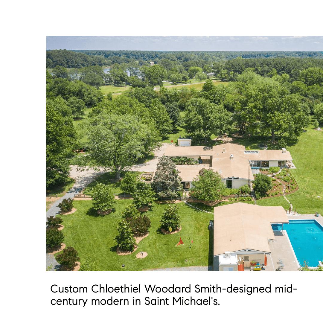 Chloethiel Woodard Smith-designed mid-century modern in St. Michael's.